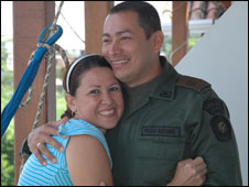 Sgt Nino and his wife Liliana