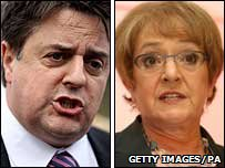 Nick Griffin and Margaret Hodge