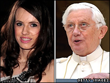 Faryl Smith and Pope Benedict