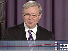 'The worm' responds positively to Kevin Rudd's speech