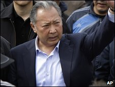 Kurmanbek Bakiyev in Jalalabad, Kyrgyzstan (13 April 2010)