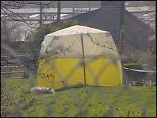 Murder scene in Porthmadog