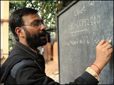 Shubhranshu Choudhary at a training session in Chhattisgarh