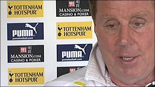 Tottenaham boss Harry Redknapp