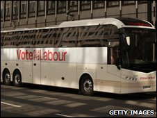 Labour battle bus