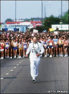 Race Founder Chris Brasher at the start of the 1984 London Marathon.