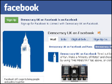 Facebook's Democracy UK page
