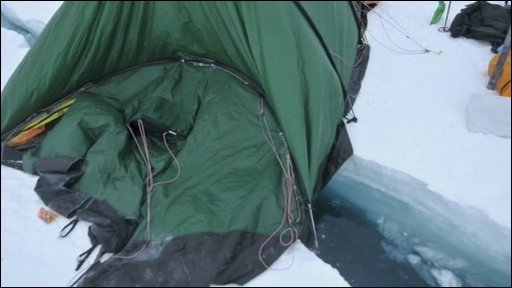 Catlin Arctic survey team tent