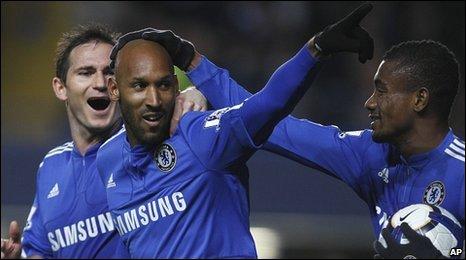 Chelsea striker Nicolas Anelka