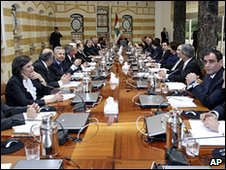 New Lebanese cabinet meets (10 November 2009)