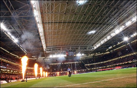 Wales play France on a Friday night during the 2010 Six Nations