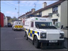 The attack happened in the Bogside area of Derry