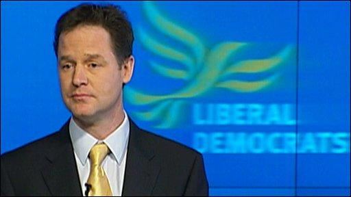 Lib Dems leader Nick Clegg