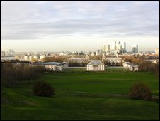 Greenwich, a great place to watch the runners and explore after.