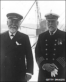 Lord Pirrie, with Titanic Captain John Smith who went down with his ship