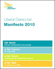 Lib Dem manifesto cover