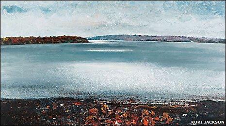One of Kurt Jackson's paintings of the Tamar