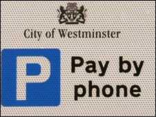 Pay by phone parking sign