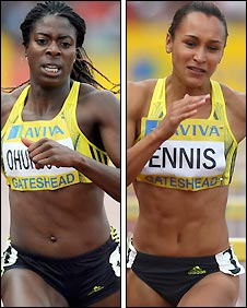 Christine Ohuruogu and Jessica Ennis
