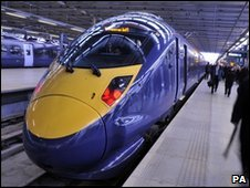 Javelin train at St Pancras station