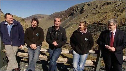 Slate miners in Cumbria
