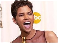 Halle Berry with her Oscar for Monster's Ball