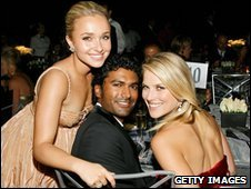 Sendhil Ramamurthy with Heroes co-stars Hayden Panettiere (left) and Ali Larter
