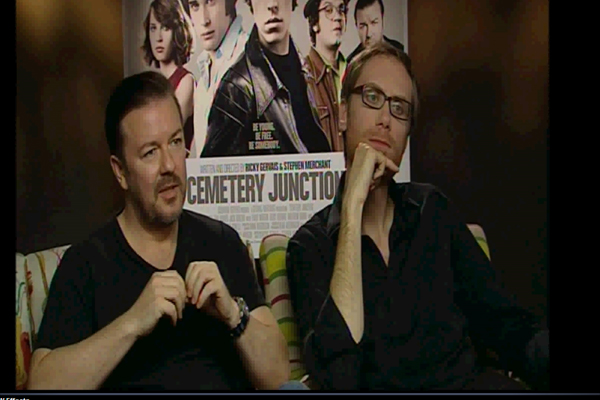 Ricky Gervais and Stephen Merchant talk about Reading.