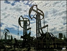 Oil field near Tyumen in Russia