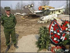 Crash site outside Smolensk