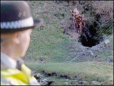 Police officer at Manchester Hole