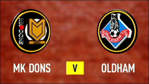MK Dons 0-0 Oldham