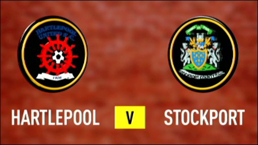 Hartlepool v Stockport