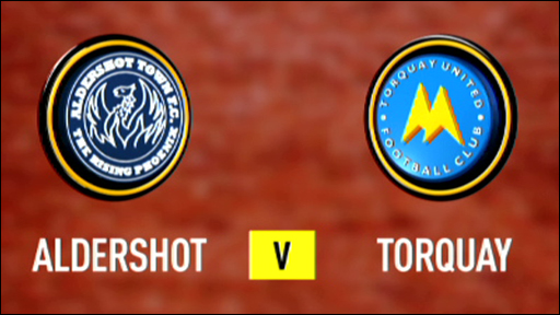 Aldershot 0-2 Torquay
