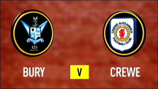 Bury 3-0 Crewe