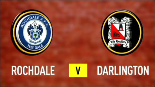 Rochdale 0-1 Darlington