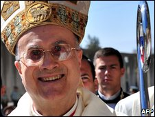 "Vatican""s Cardinal Secretary of State Tarcisio Bertone, April 2010"