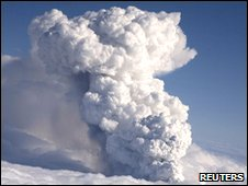 The volcanic ash cloud