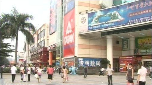 Consumer spending in China is a major factor in the economic growth.
