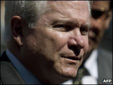Robert Gates during his trip to Lima on 14 April