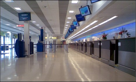 Deserted Aberdeen Airport