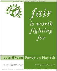 The cover of the Green Party manifesto for England and Wales