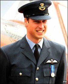 Prince William/Flt Lt Wales in RAF uniform