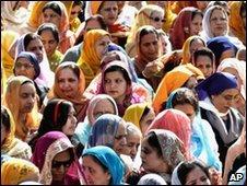 Sikhs celebrating Vaisakhi