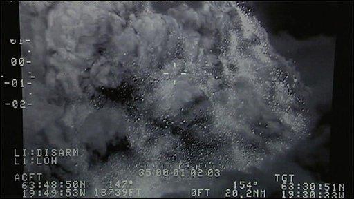 Volcanic ash satellite picture
