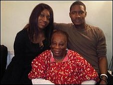 Will James with mother, Gladys Rosenior, and girlfriend