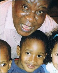 Will James with adopted father Willie James.