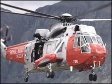 RN helipter from HMS Gannet