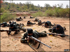Maoists train at a camp in Jharkhand, March 2010