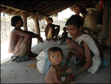 A tribal family in Chhattisgarh